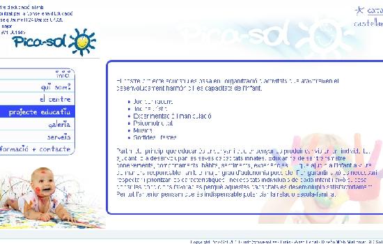 Diseño web Mallorca - Diseño página web escoleta Pica-Sol